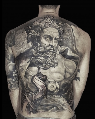 Full Back Tattoo henry-anglas